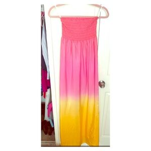 Lilly Pulitzer Maxi Dress Size S - Pink / Yellow